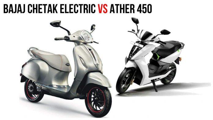 BAJAJ CHETAK ELECTRIC VS ATHER 450